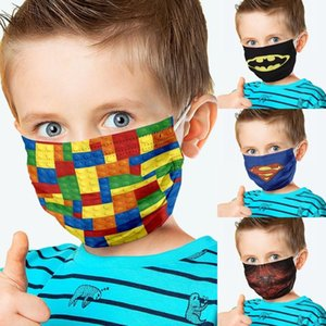 New US STOCK Anti-haze Spider Face Mask Children Reusable Washable Mouth Covering Protective Kids Customzie Logo Cosplay Party Masks