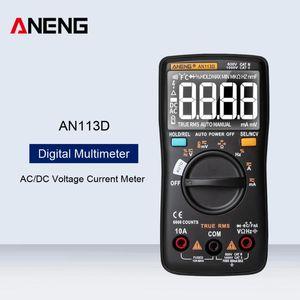 Multimeters ANENG AN113D Intelligent Auto Measure Digital Multimeter 6000 Counts Meter Transistor Tester AC DC Voltage Current
