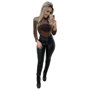 Designer Women Tops Guaze Tees Long Sleeve T-shirts Sexy Summer Clothing 2XL Plus Size Top Hot Sale Free Shipping 4495
