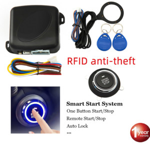 CarBest Car Alarm Start Stop Button Engine RFID Keyless Entry System Push Button Remote Starter Stop Auto