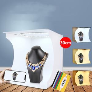 3 color temperature LED ring light highlight portable studio set 30CM photo props equipment free shipping