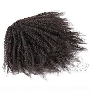 Virgin Indian Curly Color Coottail DrawString Band Sings Галстуки Эластичные клипы Странные волосы Волосы натуральный AFRO Человек Real Ponytail Dmbku