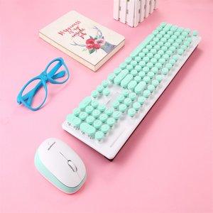 N520 2.4 ГГц Беспроводная клавиатура Панк-комбинация механические клавиатуры и набор мыши 104 ключевых круглых ключей Cap для ноутбука ПК