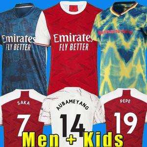 20 21 Arsen Futbol Jersey Pepe Nicolas CEBALLOS HENRY GUENDOUZI SOKRATIS Maitland-Niles Tierney 2020 2021 Futbol Gömlek Erkekler + Çocuk Seti