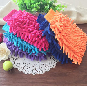 House Cleaning Gloves Chenille Microfiber Premium Scratch-Free Wash Mitt Car Wash Mitt Washing Glove with Lint Free