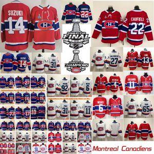Montreal Canadiens Hóquei Jerseys Mens Nick Suzuki Jersey Cole Cole Cole Caufield Carey Preço Tyler Toffoli Brendan Gallagher Alexander Romanov costurado