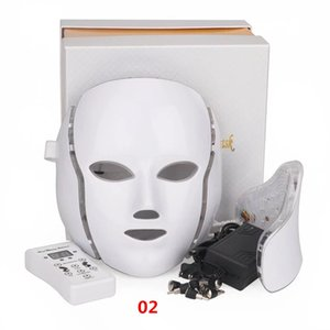 USA warehouse 7 color LED photoreactive mask, light PDT photons, facial skin rejuvenation, anti aging, acne removing and wrinkle treatment b