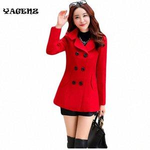 Women Woolen Coats Winter Trench Coat Fashion Cocoon Wool Long Coat Tops Women's Wool Woat Elegant Bodycon Double Breasted Coat m63x#