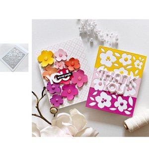 Painting Supplies Flower Arrival 2021 Cutting Dies And Stamps Scrapbook Dariy Decoration Stencil Embossing Template Diy Greeting Card Handma