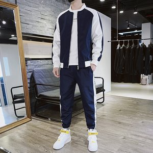Autumn Mens Suit 2020 New Autumn and Winter Leisure Jacket Youth Casual Handsome Sportswear Two-Piece Mens Clothing