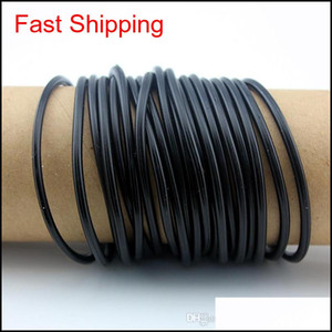 Lot 100pcs Men Women's Rubber Bracelets Wristband Rubber Bands Unisex Bangles Black White Red Sil Bracelets Frie qylLzX luckyhat