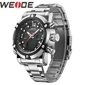 Наручные часы Weide Watch Reloj Hombre Военный кварц Двойной часовой пояс Лучшие Бизнес-тревоги Relogio Masculino Men