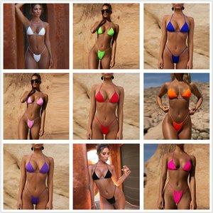 Summer Swimwear for Women Bikini Set Two Piece tankini womens swimsuits Sexy solid split women's swimsuit