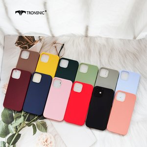 Solid Red Color Phone Case for iPhone 12 Pro Max Mini Matte Black Green Soft Luxury Thin Case for iPhone12 Pro max Cover Fashion