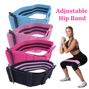 Adjustable Hip Glute Band Fabric Thighs Leg Booty Elastic Bands Non-slip And Non-roll For Home Gym Workout Fitness Equipment