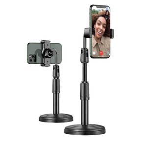 Multi-functional Adjustable Mobile Phone Stand For Live Broadcast Desk Table Clip Bracket Table Mount Cell Phone Support Holder