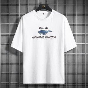 Роскошный дизайнер футболка Мужская трексуита S Одежда заброшенная половина рукава
