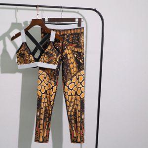 Dragon Print Suits Magned Push Up Двухсеска для женщин Двухсексуалисты на открытом воздухе Yoga Бег Велоспорт Плавание Спортивная одежда Костюмы