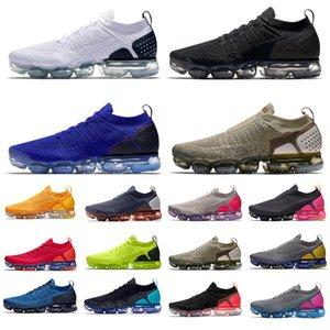 Vapormax 2.0 Erkek Koşu Ayakkabıları Üçlü Siyah Beyaz Üniversitesi Altın Racer Mavi Kırmızı Sıcak Yumruk Ay Partikül Miras Pembe Blast Eğitmenler Erkek Kadın Spor Sneakers 36-45