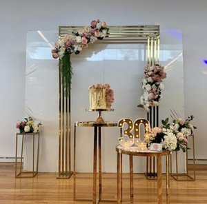 Luxury Fashion Wedding Decoration Aisle Backdrops Flower Row Arch Floral Bouquet Plinth Table For Birthday Party Christmas Balloon Ornaments Props Display Rack