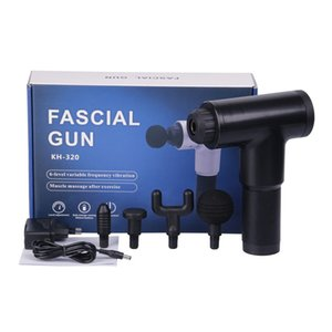 2000mA Electric Muscle Massage Gun Deep Muscle Fascia Tissue Massager Therapy Gun Exercising Muscle Pain Relief Body Shaping