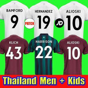 20 21 футбольные майки Leeds United футбольная футболка leeds Bamford Alioski 2020 2021 Harrison Klich Hernandez Phillips AYLING Men + Kids thailand