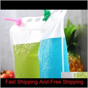 250ml,500ml,750ml,1000ml Plastic Frosted Drink Packaging Bag Clear Pouch For Beverage Juice M qylhKY sweet07