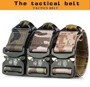 Tactical Belt New Breathable Outdoor Nylon Belt Military High Quality Nylon Men's training Belt Metal Multifunctional Buckle