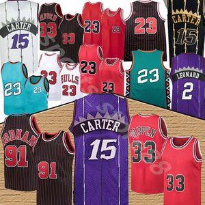 NCAA VINCE 15 JA CARTER HOT 23 Michael Jersey Scottie 33 Pippen Dennis 91 Rodman College College S-XXL