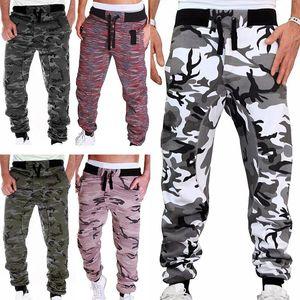 Thin Summer Men Camouflage Casual Pants Patchwork Sweatpants Male Cargo Pants Multi-pocket Sportwear Mens Joggers 2021
