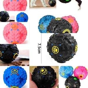 EWS Toys Welpen Kugelaustritt Lebensmittel Ball Sound Spielzeug Bälle Haustier Hund Katze Quietschende Kauen Welpen Squeaker Sound Pet Supplies LXL842Q 2oesq