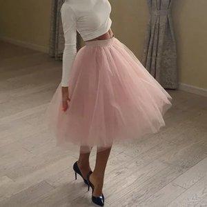 5 Слои качества Мода Tulle Ploided Tutu Rokken Womens Lolita Petticoat Невесты Midi Rok Jupe Saias Faldas