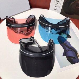 Luxury designer sun hat summer fashion men's and women's latest transparent polaroid polarized lens sunvisor anti-ultraviolet
