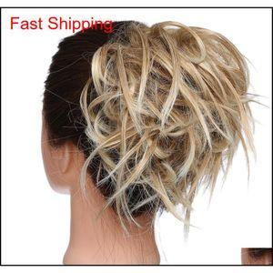 New Messy Scrunchie Chignon Hair Bun Straight Elastic Band Updo Hairpiece Synthetic Hair Chignon Hair Ex jlljdv xhqhlady