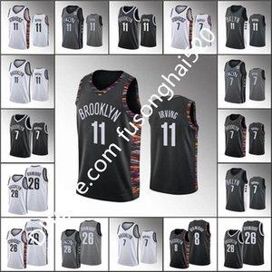 Entrega rápida Nuevo 13 Harden Jersey Kevin 7 Durant Jersey Nuevo 11 Kyrie Men's Basketball Irving Jersey de alta calidad Blanco Blanco Gris S-XX