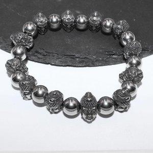 Beaded, Strands Classic Retro Religious Sakyamuni Head Beaded Bracelet Unisex Trend Casual Jewelry