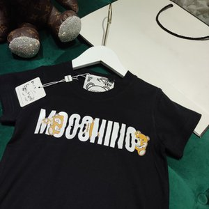 2021SS Designers Ropa Camiseta para niños Camiseta de diseñador de bebé Peinado Algodón Mos Camiseta Chicos Camiseta Negro 100-150