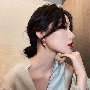 Dangle & Chandelier Cross Imitation Pearl Female Elegant Earrings Simple Temperament Korean Fashion Sweet Delicate Bride Wedding Jewelry