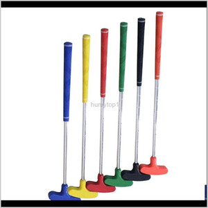 Children Golf Putters Mini Pole Steel Shaft Grip Rubber Push Rod Accessories Outdoor Leisure Games Red Green High Quality 45Kr Ww G6V8 Vthfj