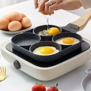 Bancake Pan Anstick может быть жареным яичницей сосисками Стейк не жирный дым Прекрасный мини-завтрак машины кастрюли кастрюля капюшона