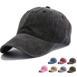 16 New styles Solid Colors Washed Retro Ponytail Peak Hat Couples Ponytail Baseball Cap Newest Street Outdoor Sports Tide Sun Hat