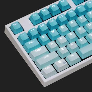 104Pcs PBT Backlight Color Matching Keycaps Replacement for Mechanical Keyboard Backlight Comfortable to Use Keyboard Accessory