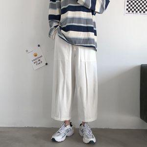 2021 Top quality Spring Summer Wide-leg Men's Fashion Casual Men Streetwear Hip-hop Straight Pants Mens Trousers S-2xl R7KQ