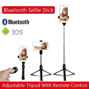 Bluetooth ajustable Selfie Stick con control remoto SelfTimer Projectable Trípode Desktop Mobile Phone Tripod Live Video Soporte