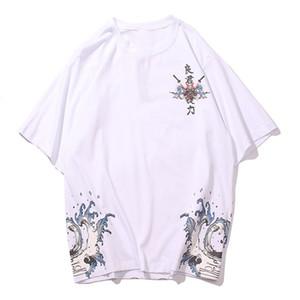 Aelfric 2021 New Eden Hip Hop Samurai Flowers t Men Streetwear Harajuku Japanese Style Oversized Short Sleeve Summer Tees Shirts T146