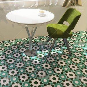 Restaurant anti slip tiled floor terrace green tiles balcony kitchen Islamic background wall tile