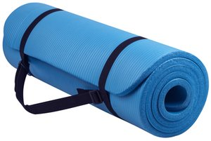 BalanceFrom GoYoga All-Purpose 1 2-Inch Extra Thick High Density Anti-Tear Exercise Yoga Mat with Carrying Strap, Red