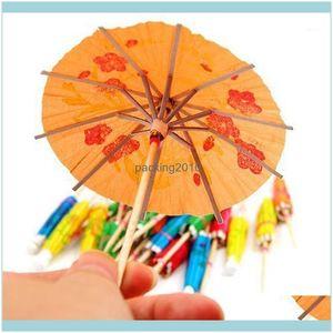 Packaging Packing Office School Business & Industrialpackaging Dinner Service 10Pcs Kids Diy Paper Cake Topper Picks Umbrella Cocktail Paras