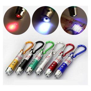 New Arrival Multi-Functional Mini 3 In1 Led Laser Light Pointer Key Chain Flashlights Mini Torch Flashlight Money Detector Light My5Zn Rxb4V
