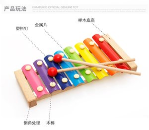 Factory direct selling hand knock Qin child wooden eight tone percussion instrument toy